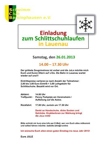 einladung zur minigolf-radtour nach bad nenndorf, Einladung