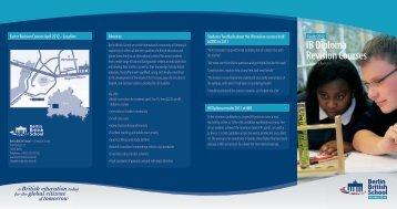 IB Diploma Revision Courses - Berlin British School