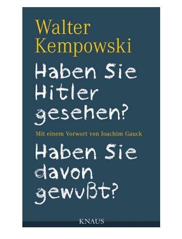 Leseprobe zum Titel: Haben Sie Hitler gesehen? - Die Onleihe