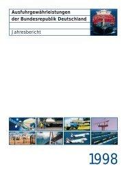 Ausfuhrgewährleistungen Jahresbericht der ... - AGA-Portal