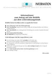 Infoblatt Unterstützungsfond