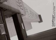 Goldfinger - Vertical Housing London - Lehrstuhl und Institut für ...