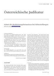 Österreichische Judikatur - Österreichisches Institut für ...