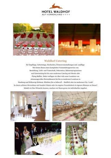 Waldhof Catering - Hotel Waldhof auf Herrenland