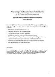Anforderungen des Deutschen Gewerkschaftsbundes an die Reform ...