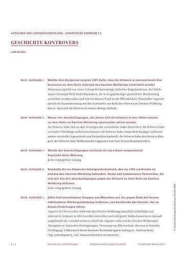 GESCHICHTE KONTROVERS - Lehrmittelverlag Zürich