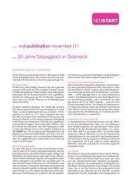 25 Jahre Tatausgleich in Österreich - Neustart