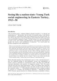 Seeing like a nation-state: Young Turk social engineering in Eastern ...