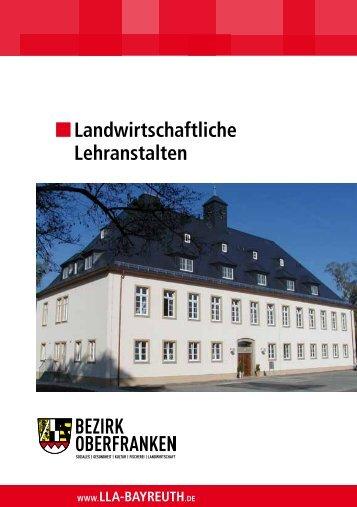 Landwirtschaftliche Lehranstalten - Bezirk Oberfranken