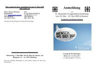 Anmeldung Kirchentag Bremen - Evangelischer Kirchenkreis Duisburg