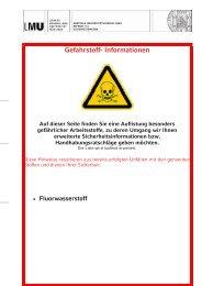 Gefahrstoff- Informationen - Ludwig-Maximilians-Universität München