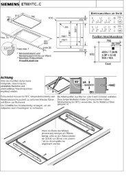 Planungshilfen ET801TC11C - Siemens Home Appliances