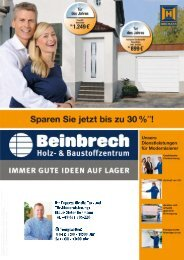 Aktionsflyer Tor & Haustür 2012 - Beinbrech