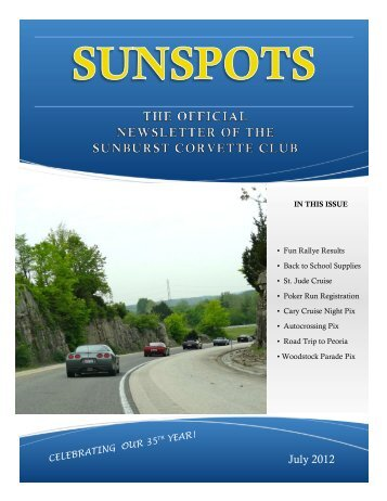 JUlY 12 SUNSPOTS - Sunburst Corvette Club
