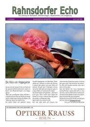 Ausgabe 13/03 - Juni / Juli 2013 - Bürger für Rahnsdorf