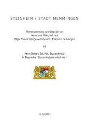 Zusammenfassung Projekte für Staatssekretär Eck - beim ...