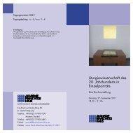 Liturgiewissenschaft des 20. Jahrhunderts in ... - Franz-Hitze-Haus
