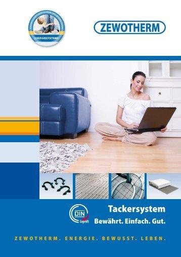 Tackersystem - Zewotherm