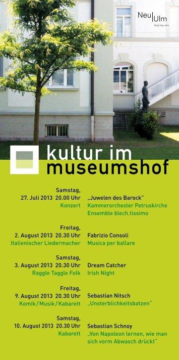 Veranstaltungsprogramm (PDF) downloaden - Stadt Neu-Ulm