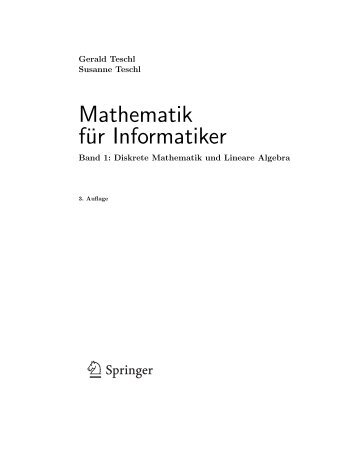 Mathematik für Informatiker 1 - an der Fakultät für Mathematik ...