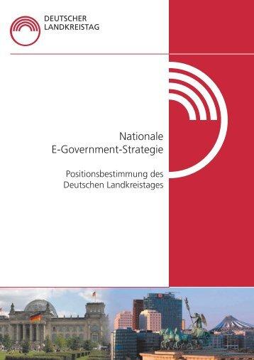 Nationale e-Government Strategie (Broschüre; Stand: Oktober 2008)