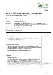 Protokoll der Vorstandssitzung vom 22. November 2011