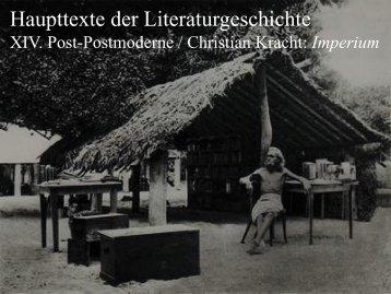 Haupttexte der Literaturgeschichte - Literaturwissenschaft-online