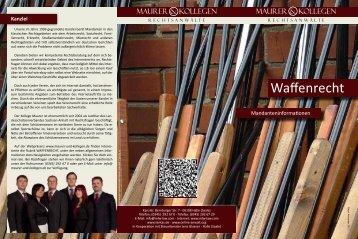 Waffenrecht - Maurer & Kollegen Rechtsanwälte