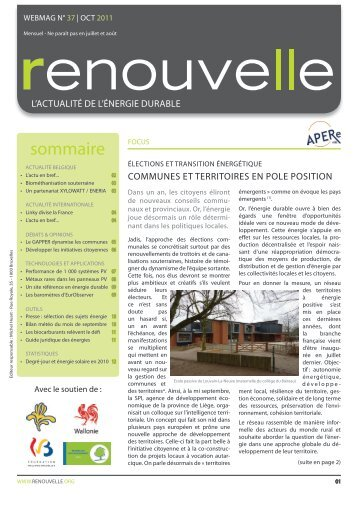 Renouvelle n° 37 - APERe