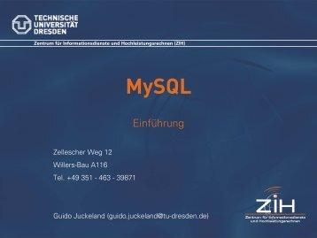 Einführung in MySQL