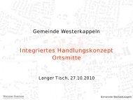 Integriertes Handlungskonzept Ortsmitte - Gemeinde Westerkappeln