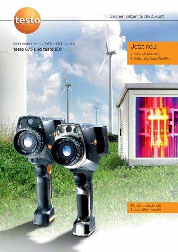 Produktbroschüre Industriethermografie - TestoSites
