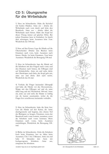 Cd 5 Ubungsreihe Fur Die Wirbelsaule Yoga Am Meer