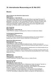 35. Internationaler Museumstag am 20. Mai 2012