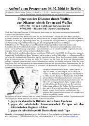 Aufruf zum Protest in Berlin
