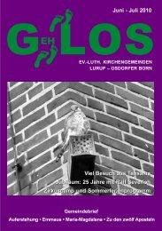 GehLos - Ausgabe Juni - Juli 2010 - Lurob.de
