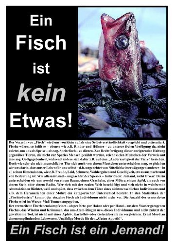 Fisch Flugblatt - Gegen-Speziesismus.de