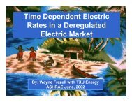 Time Dependent Electric Rates in a Deregulated Electric Market