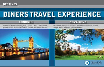 DINERS TRAVEL EXPERIENCE DESTINOS LONDRES NOVA YORK