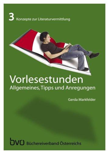3 Vorlesestunden - Österreich liest - Büchereiverband Österreichs