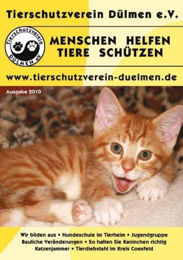Tierheim-Zeitung Ausgabe 2010 - Tierschutzverein Dülmen e.V.