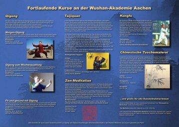 Fortlaufende Kurse an der Wushan-Akademie Aachen