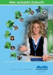 Zum Übersichtsprospekt (Produktprogramm) - MeWa Recycling ...