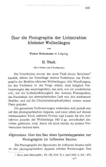 Über die Photographie der Lichtstrahlen kleinster Wellenlängen
