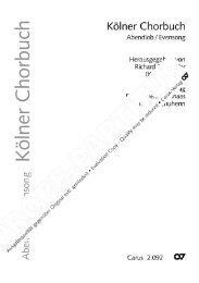 Kölner Chorbuch - Carus-Verlag
