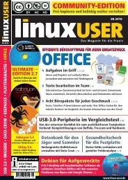 Ausgabe 08/2010 jetzt herunterladen - Linux User