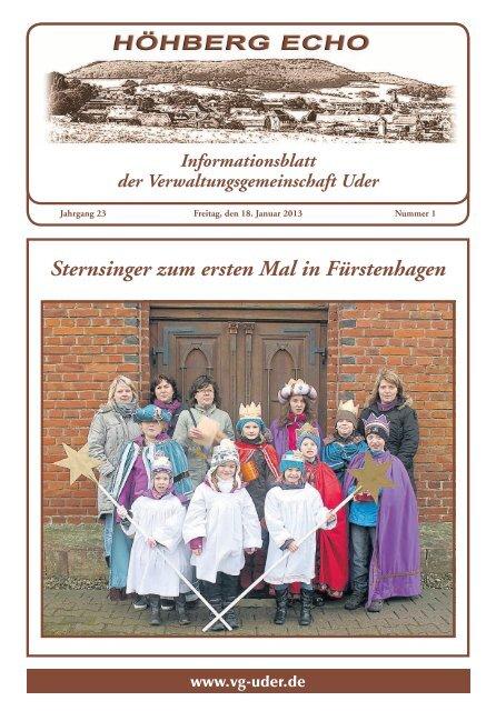 Sternsinger zum ersten Mal in Fürstenhagen
