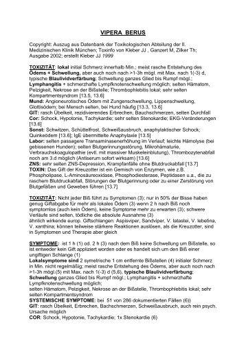 VIPERA BERUS - Provings.info