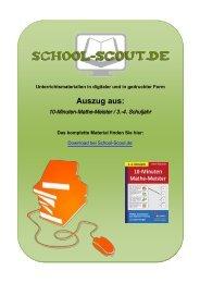 10-Minuten-Mathe-Meister / 3.-4. Schuljahr - School-Scout