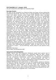 1 PSITTASCENE, Nr. 3, August, 2010 Aus dem ... - World Parrot Trust